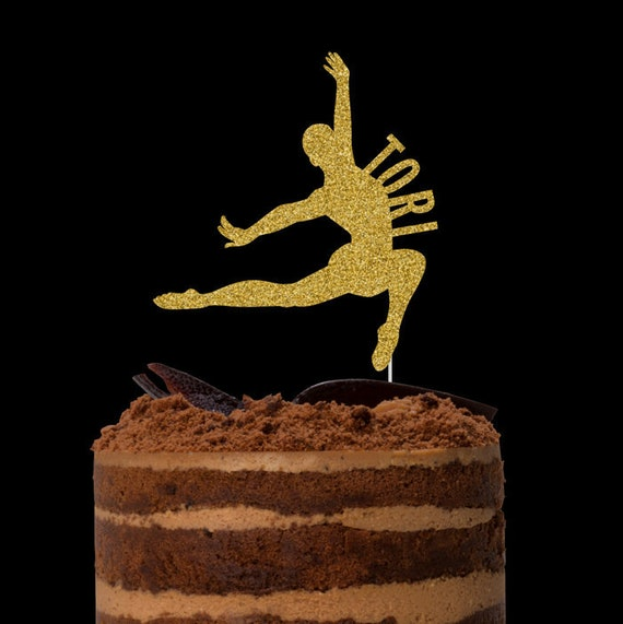 Swell Gymnast Cake Topper Birthday Cake Topper Gymnastics Theme Birthday Cards Printable Trancafe Filternl
