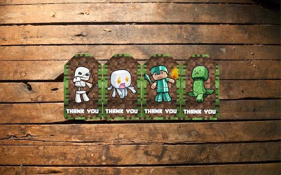 Minecraft invitation minecraft birthday invitation minecraft solutioingenieria Image collections