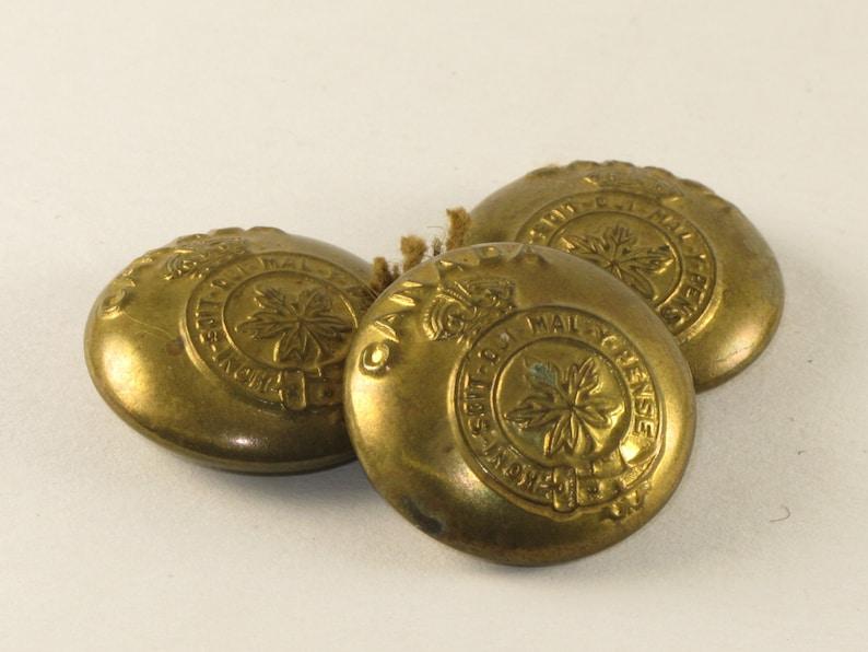 WWII Canadian Military Buttons World War II Brass Uniform Buttons Canada
