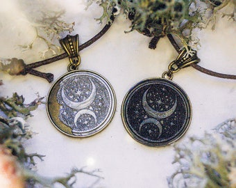 Moon Child necklace   two versions