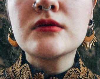 SUN and MOON hoop earrings | Ana Karuso