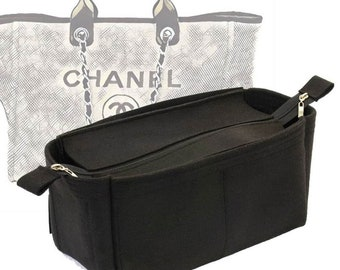 6223445b6 Bag and Purse Organizer with Zipper Top Style for Chanel Deauville Canvas  Large (More colors available)