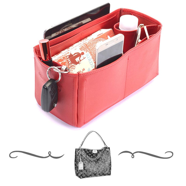 4e87533d6f Graceful PM Deluxe Leather Handbag Organizer Leather bag