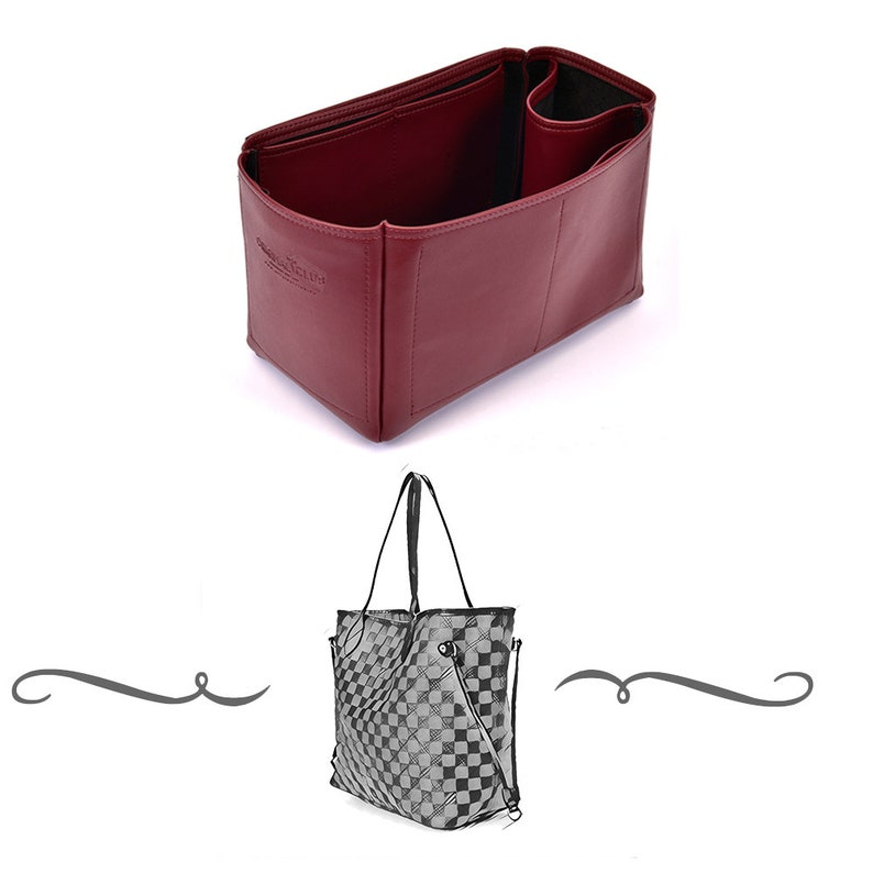 764621c881 Iena MM Deluxe Leather Handbag Organizer Leather bag insert