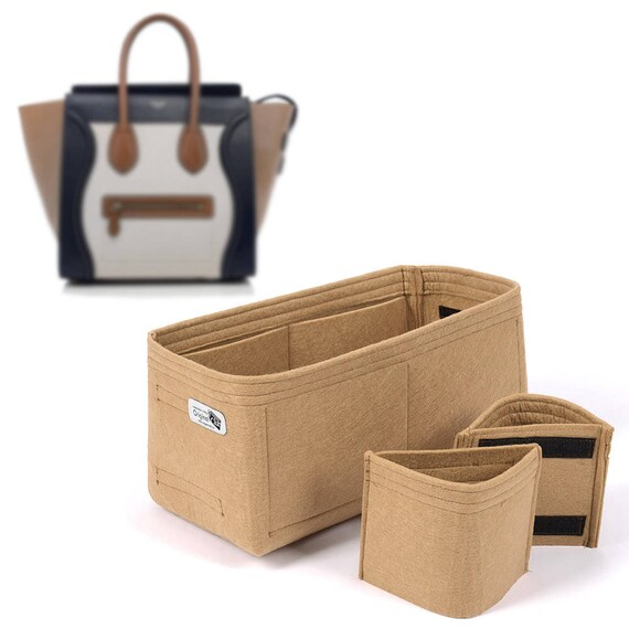 Bag and Purse Organizer with Detachable Style for Celine Bags, Felt bag organizer with Removable Cup Holders (Express Shipping)