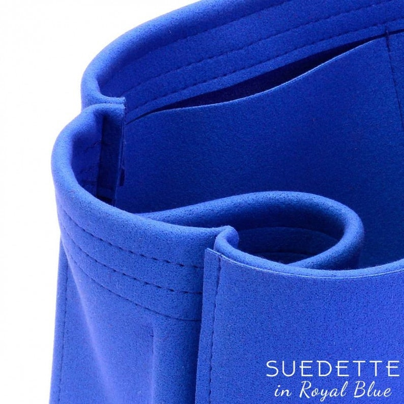 Small Zipped Bayswater Tote Suedette Singular Style Leather Handbag Organizer Royal Blue More Colors Available
