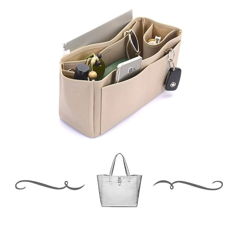 Tessie Tote Deluxe Leather Handbag Organizer Leather bag  093482e53bf55
