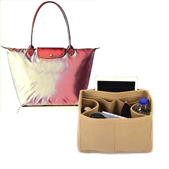 Bag and Purse Organizer for Longchamp totes, Felt Purse Organizer, bag insert, Bag Organizer for Longchamp (Express Shipping)