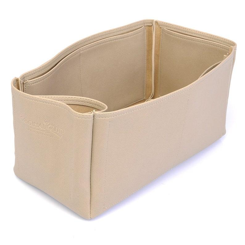 Leather bag insert for LV Speedy 35 Leather Purse Inserts Speedy 35 Vegan Leather Handbag Organizer in Dark Beige Color
