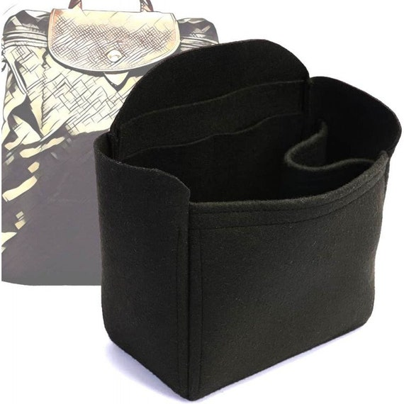 Quality Felt Purse Insert Black Deluxe Bag Organizer for Cuyana Tote Bag