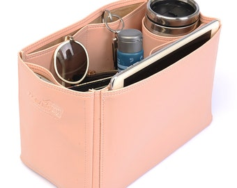 N.full MM Vegan Leather Handbag Organizer in Blush Pink Color, Leather bag insert for N.full MM, Leather Purse Inserts
