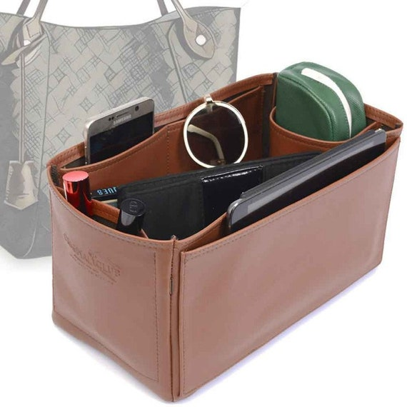Delux Leather Bag Organizer for LV Speedy 35 Vegan Leather 4 Color Options