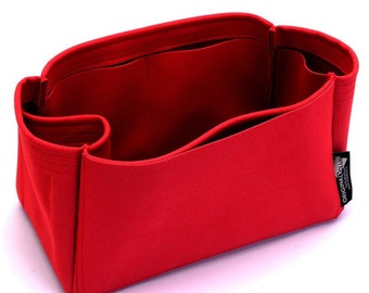 SP 25 / 30 / 35 / 40 Suedette Singular Style Leather Handbag Organizer (Red) (More Colors Available)