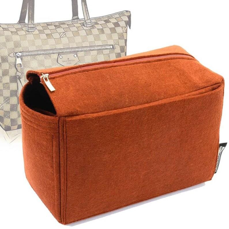 V-zip Style Felt Bag Organizer for Iena MM Felt Purse  2aa8a2149fc4a