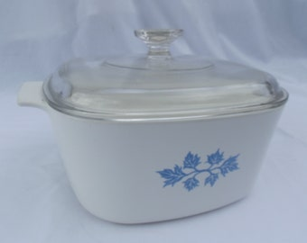 Vintage casserole dish with lid, quality Pyroflam, chunky casserole pot/ dish, solid, feels like cast iron
