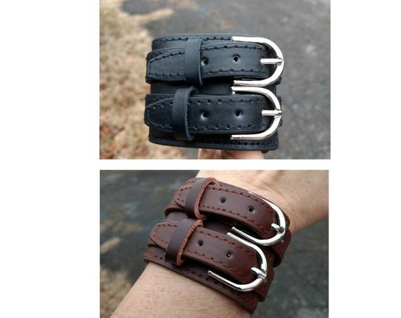 Leather Diffuser Bracelet Essential Oil Aromatherapy Boho Gothic Buckle Young Living Doterra Women Mens Gift  Christmaas Gift Brown Black