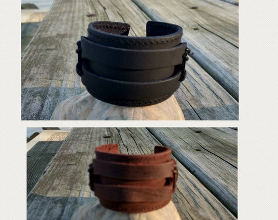 Leather Diffuser Bracelet Essential Oil Aromatherapy Boho Gothic Young Living Doterra Women Mens Gift Teen Christmaas Gift Brown Black