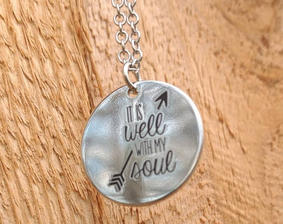 Essential Oil Diffuser Necklace Bible Scripture It is well with my soul Lava Bead Friend Graduation Church Gift Young Living Doterra Scrp01