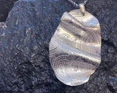 Wave necklace - Silver Statement Necklace, Unique necklace with Paisley HANDMADE