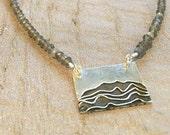 Silver wave Labradorite necklace, Surfer necklace, Uno de 50, Wave necklace, Ocean wave necklace, Silver Ocean Necklace