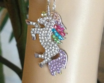 c49a1a8dd Luxury Unicorn Necklaces for Women White Gold Filled Accessories AAA CZ  Jewelry