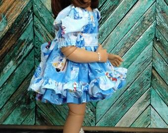 Cinderella Twirl Peasant Dress
