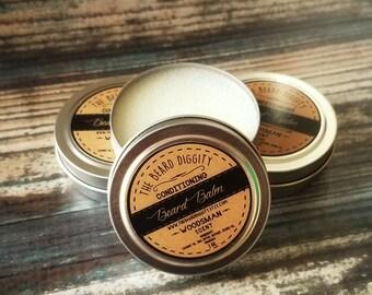Beard Balm, Woodsman Scent, Conditioning, Essential Oils, Woodsman, Mustache, Beard, Shaping