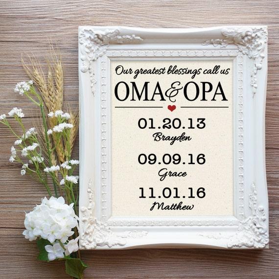 Oma and Opa Christmas Gift Opa Christmas Gift Our greatest | Etsy