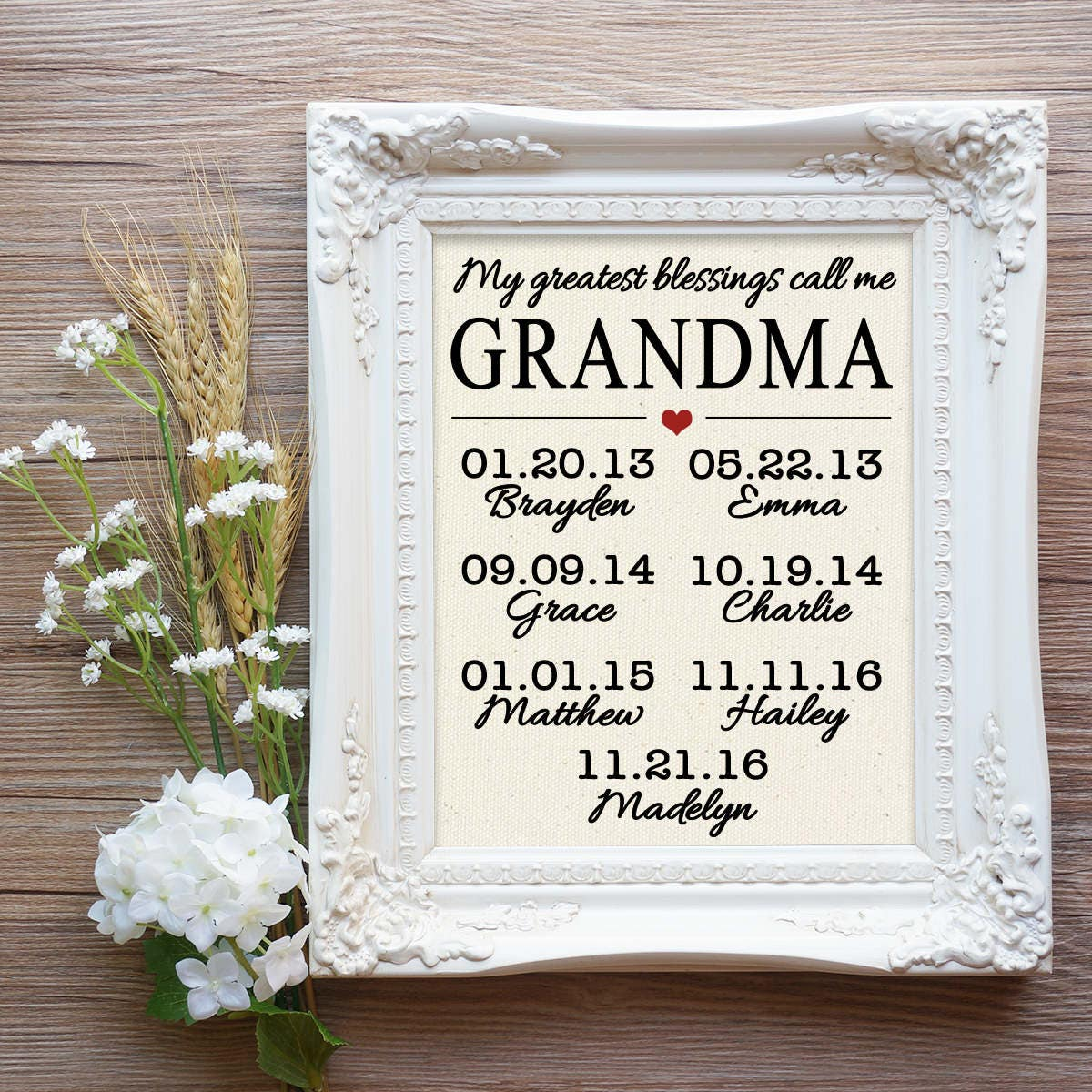 My greatest blessings call me Grandma Grandma Christmas Gift   Etsy