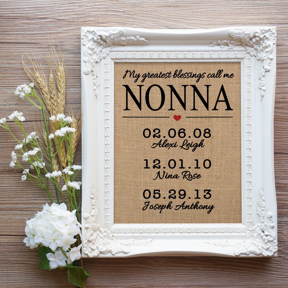 Muttertag Geschenk für Nonna Geschenk Noni italienischen Oma | Etsy