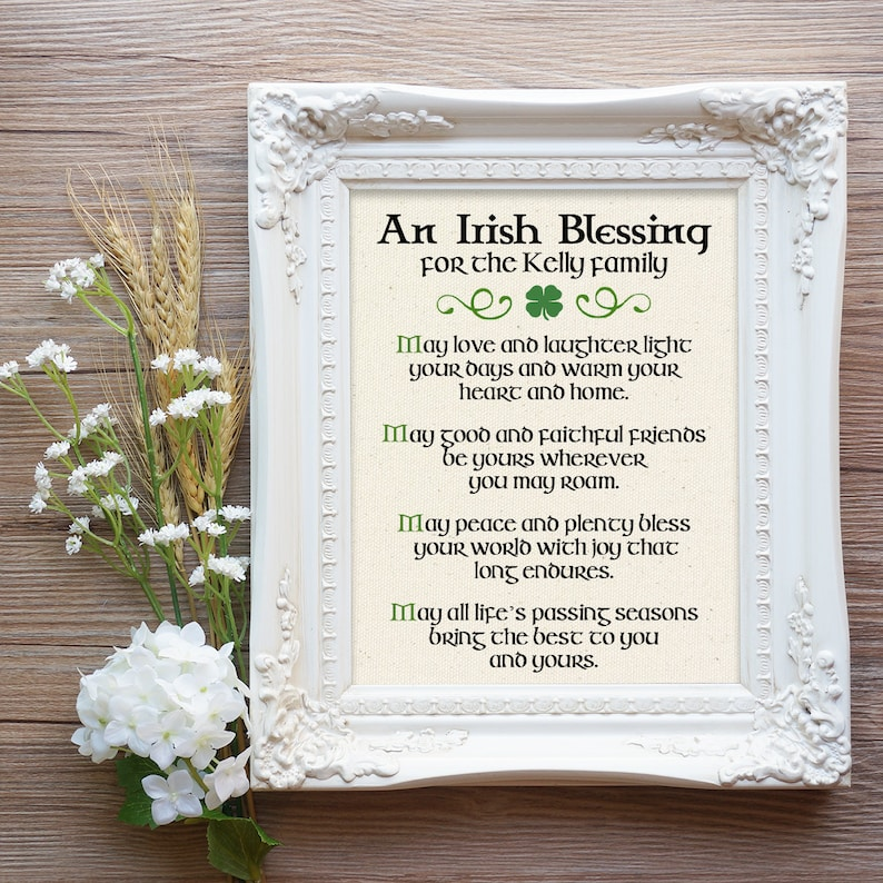 b3d28e4649a4 Irish Blessing Gift Irish Valentine s Gift Irish Prayer