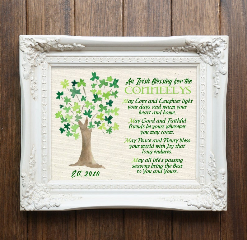 e9b54e2a375c Irish Blessing Canvas Print St. Patrick s Day Irish
