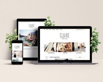 Claire WordPress Theme - Elegant & Responsive Template