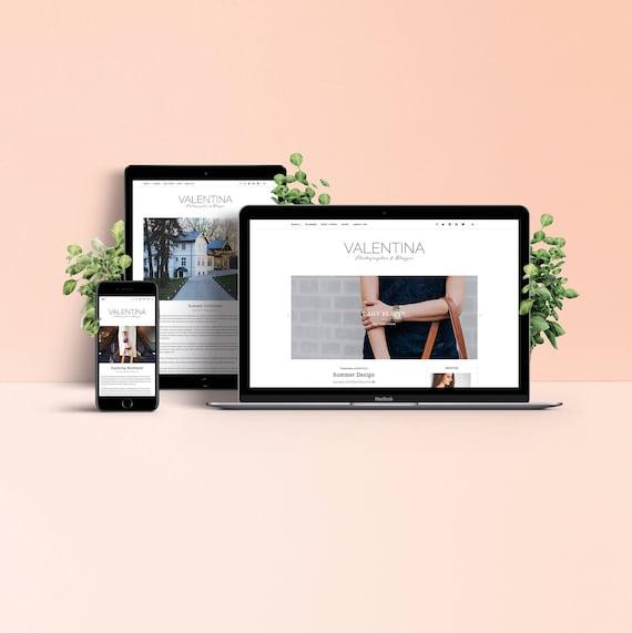 Valentina Wordpress Theme Responsive Blog Magazine Etsy