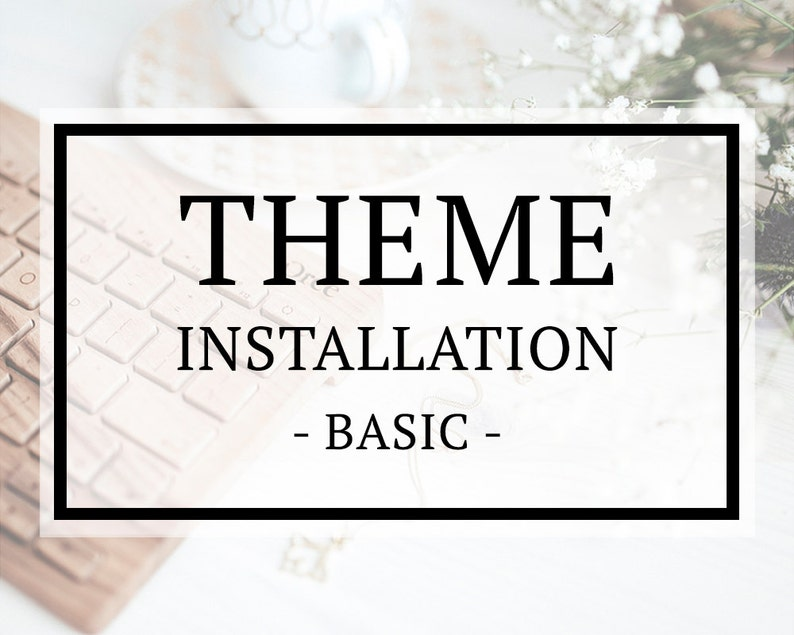WordPress Theme Installation  Basic Service Add-on image 0