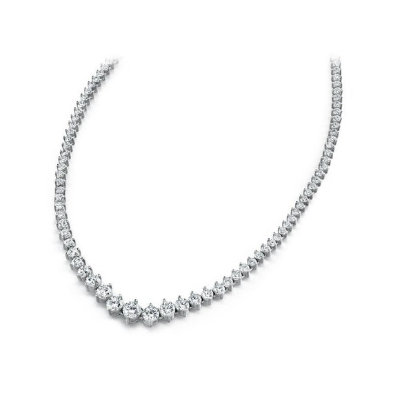 metà fuori cbcb3 31c93 7 carati di diamanti Tennis collana 18k oro - collana di diamanti Eternity  - regali per le donne - per lei - matrimonio collana - corvo Fine Jewelers
