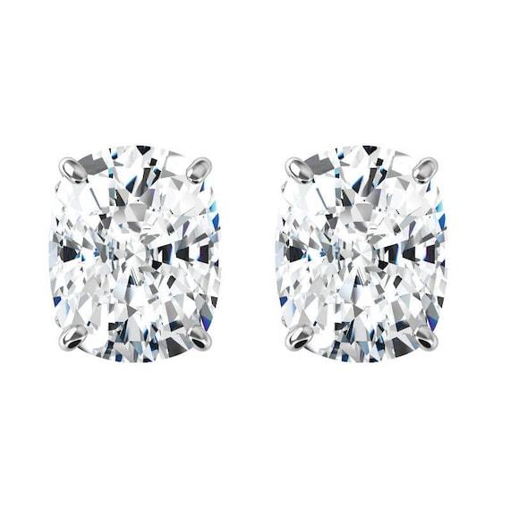 ec871cecb 10 carats tw. Elongated Cushion Harro Gem Moissanite Stud | Etsy