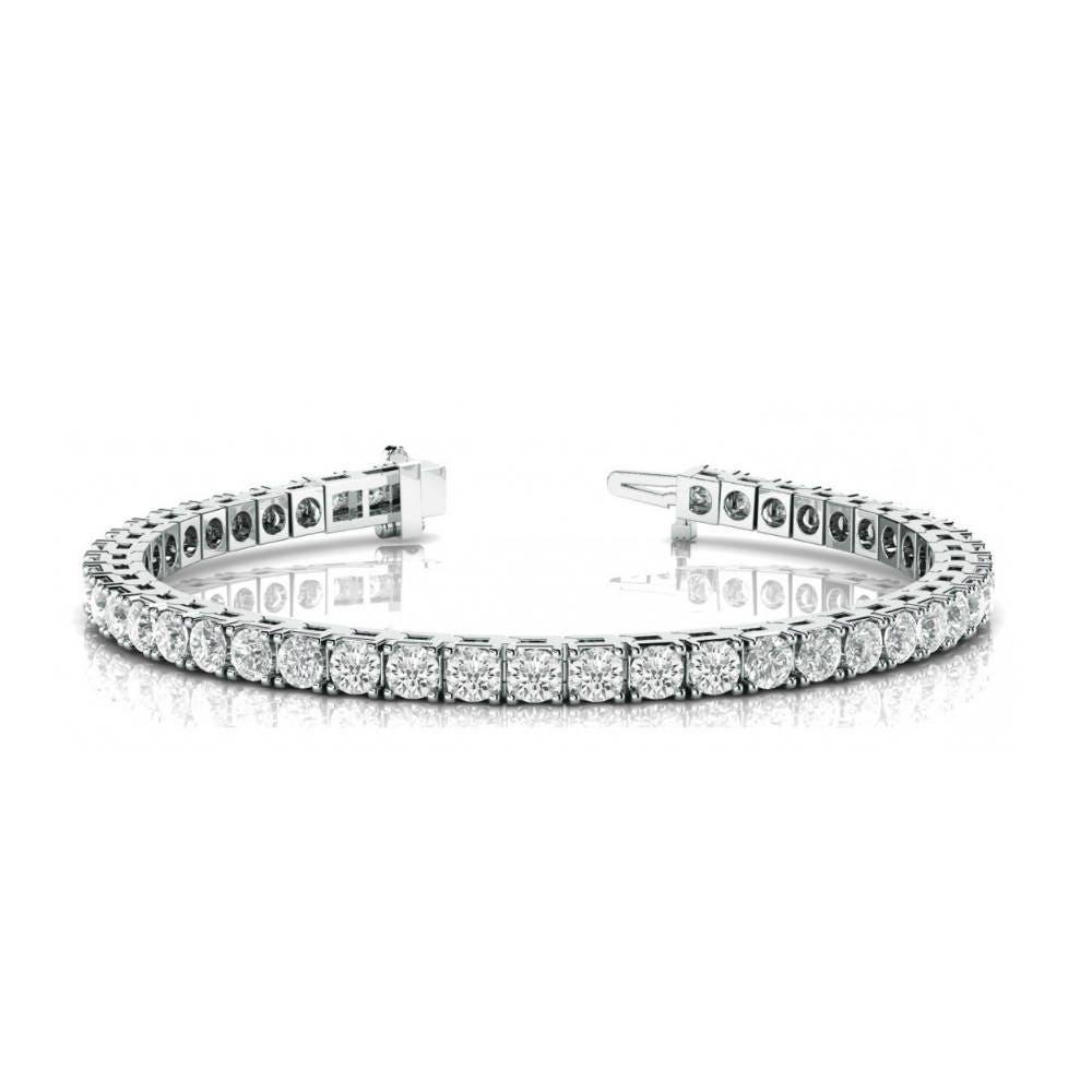 25 carat round forever one moissanite tennis bracelet 14k. Black Bedroom Furniture Sets. Home Design Ideas