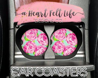 5c2f27d0c82 Lilly Inspired Car Coaster Set