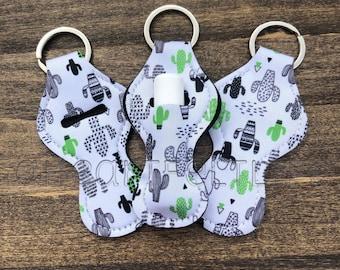 Cactus Chapstick Holder   Chapstick Keychain   Lip Balm Holder   Personalized   Monogram   Class Gift   Party Favors   Teacher Gift
