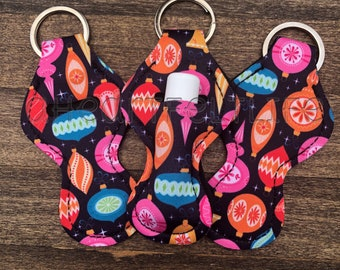 Ornament Chapstick Holder   Chapstick Keychain   Lip Balm Holder   Personalize   Monogram   Stocking Stuffer   Party Favor