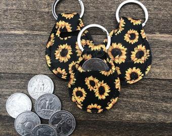 Sunflower Quarter Holder   Quarter Keeper   Coin Purse   Keychain   Coin Holder