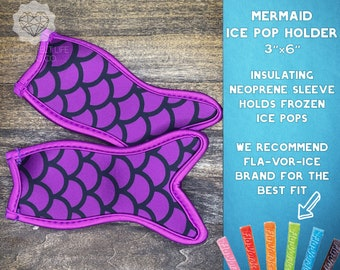Easter Gift for Kid Mermaid Tail Ice Pop Sleeve Summer Ice Pop Party Easter Basket Freeze Pop Holder Personalized Ice Pop Holder