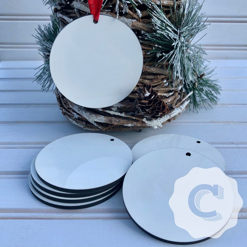 ROUND SUBLIMATION ORNAMENTS | Sublimation Blanks | Christmas Ornaments | Diy