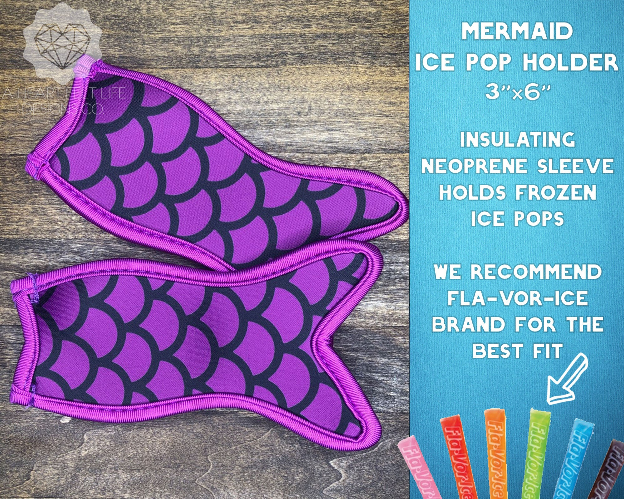 12 Pieces Popsicle Holder Bags Ice Pop Sleeves Bags Mermaid and Shark Shape Popsicle Covers