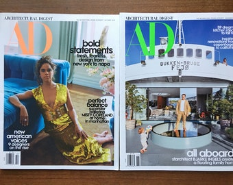 ARCHITECTURAL DIGEST - October & November 2020 Issues- Brand New Condition