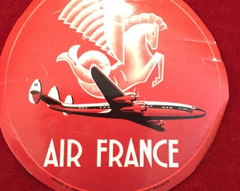 Vintage Air France Airline Decal
