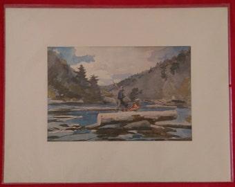 Hudson River Landing Watercolor Reproduction - Homer