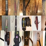 FREE SHIPPING! Full custom leather guitar strap.  Let's have some fun with it.