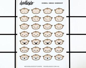 Moncheeky emoji stickers - 28 planner and tn stickers